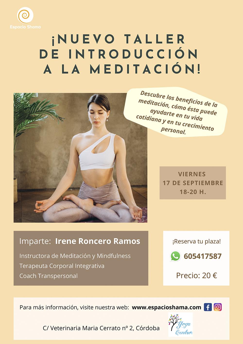 Taller de introducción a la Meditación